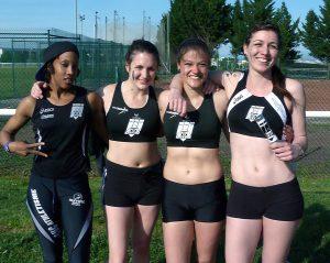 Équipe du relai féminin aux Interclubs 2014